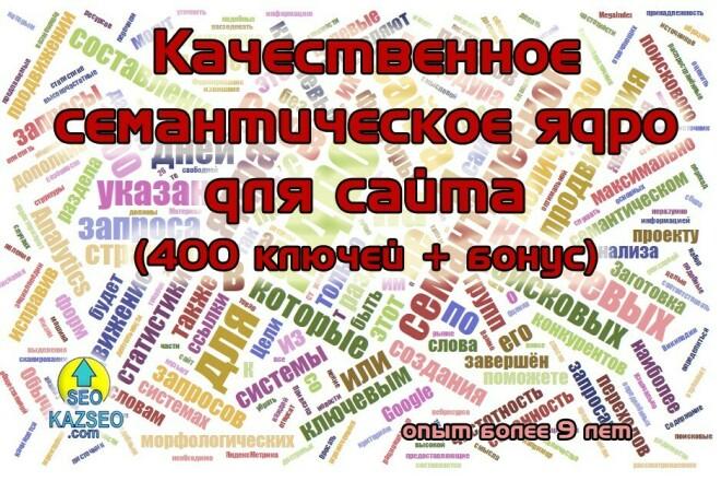 Сделаю качественное семантическое ядро для сайта. Опыт более 9 лет 1 - kwork.ru