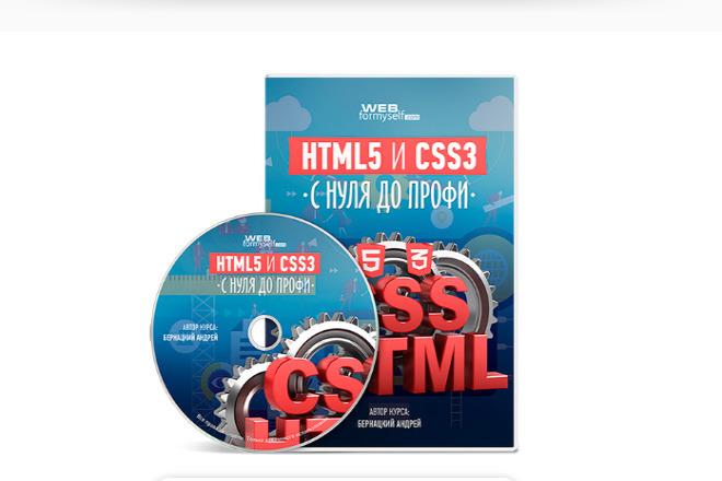 HTML5 и CSS3 с нуля до Профи + 7 бонусов 1 - kwork.ru