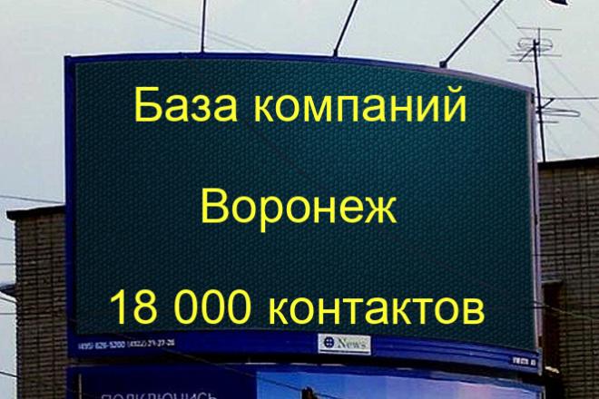 База компаний Воронеж 18000 контактов 1 - kwork.ru