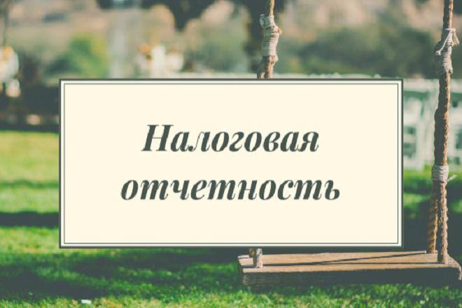 Налоговая отчетность ИП, ООО -УСН, ЕНВД, ОСНО 1 - kwork.ru
