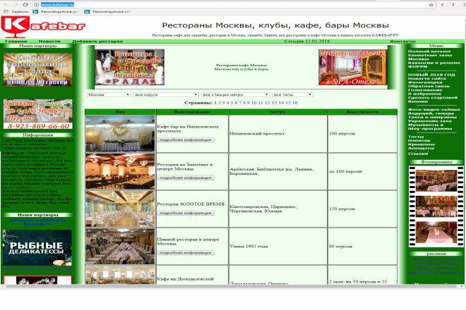 Размещаю баннер на сайте каталоге ресторанов кафе www.kafebar.ru 1 - kwork.ru