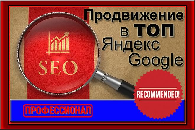 Продвижение сайта в ТОП Яндекс и Google - регионы РФ 1 - kwork.ru