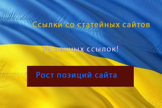 Вечные ссылки в статьях на Украинских сайтах 1 - kwork.ru