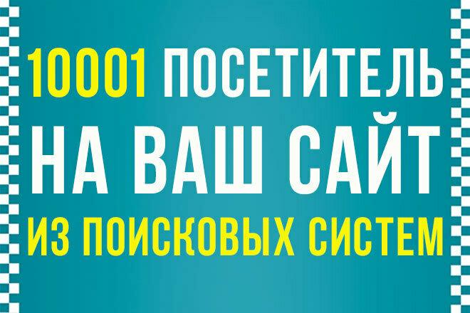 10 001 посетитель на ваш сайт из поисковых систем 1 - kwork.ru