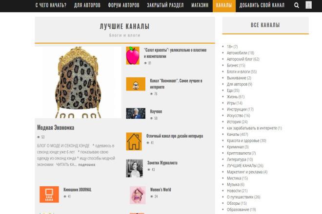 Размещу ваш канал Яндекс Дзен в каталоге каналов Дзен + бонус 1 - kwork.ru