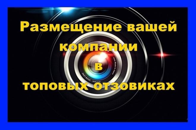 Зарегистрируем вашу компанию в каталогах - отзовиках. 8 площадок 1 - kwork.ru