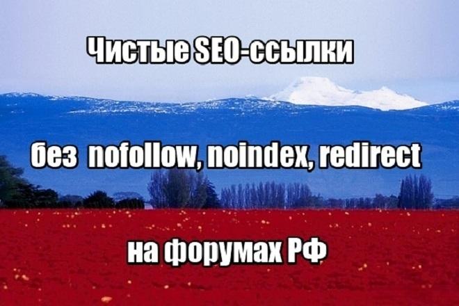 Чистые SEO-ссылки с форумов РФ. Большая база, качественный копирайт 1 - kwork.ru
