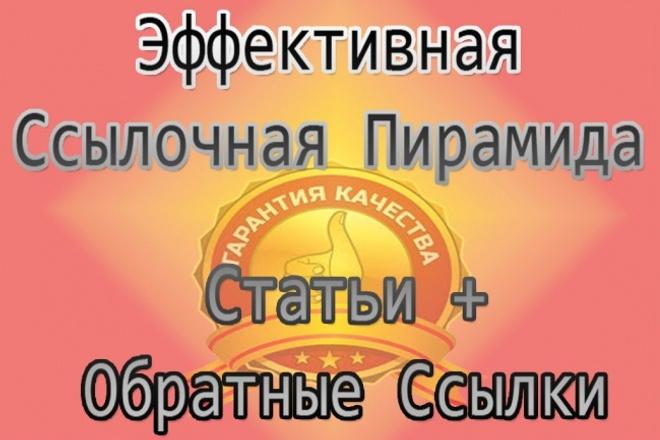 Обратные ссылки - СЕО - ссылочная пирамида 1 - kwork.ru