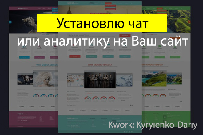 Установка чата или аналитики 1 - kwork.ru