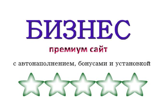 Бизнес настоящий автонаполняемый премиум сайт за 500 рублей с бонусом 1 - kwork.ru