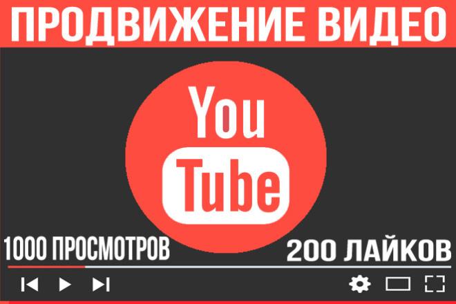 Продвижение видеороликов на YouTube с бонусом. Просмотры и лайки ютуб 1 - kwork.ru