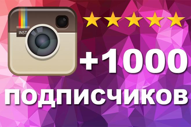 +1000 живых подписчиков в Инстаграм 1 - kwork.ru