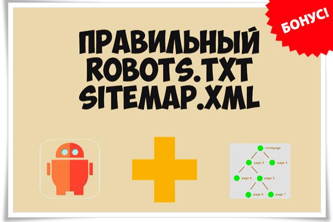 Создам и настрою правильный robots.txt и sitemap.xml для wordpress 1 - kwork.ru