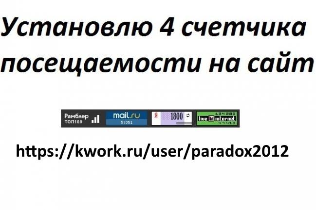 Установлю 4 счетчика посещаемости на сайт 1 - kwork.ru