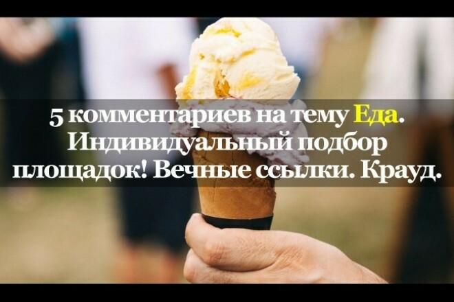 5 тематических комментариев. Еда. Кулинария. Вечные ссылки. Крауд 1 - kwork.ru