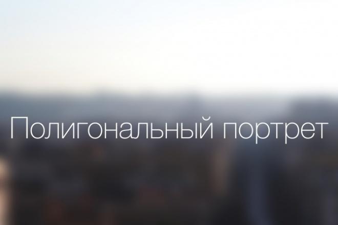 Сделаю полигональный портрет из вашего фото 3 - kwork.ru