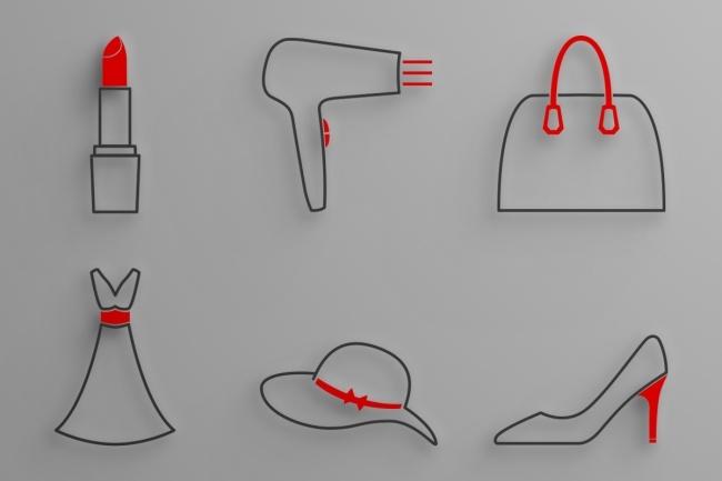 6 иконок в едином стиле 6 - kwork.ru