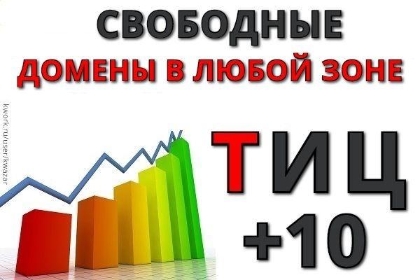 Найду, подберу для вас 5 доменов с ТИЦ 10 в любой зоне 1 - kwork.ru