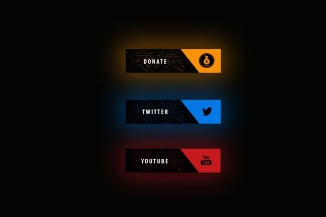 Сделаю для вас оформление канала Twitch 7 - kwork.ru