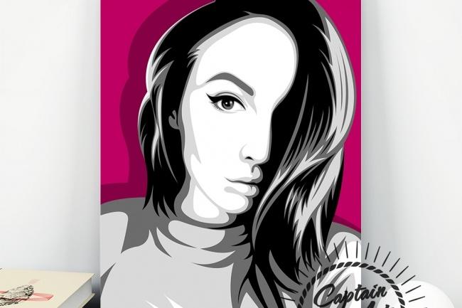 Портрет в стиле Поп-арт 2 - kwork.ru