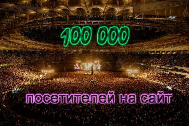 30 000 посетителей на Ваш сайт 1 - kwork.ru
