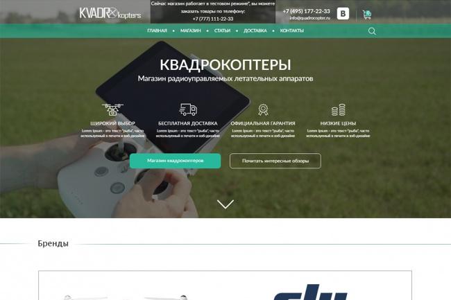 Дизайн одного блока Вашего сайта в PSD 103 - kwork.ru