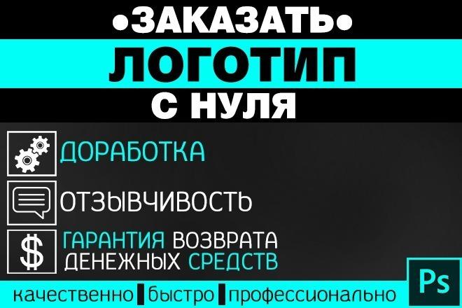 Сделаю качественно и быстро логотип С НУЛЯ 5 - kwork.ru