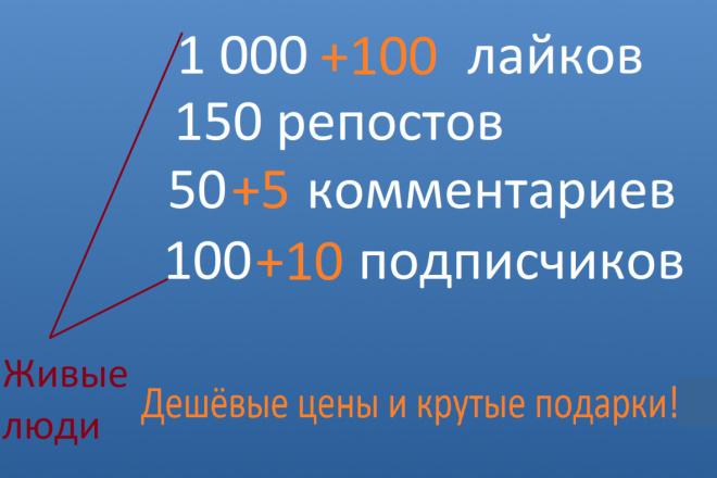 Качественный пак для раскрутки, продвижения вк группы 1 - kwork.ru