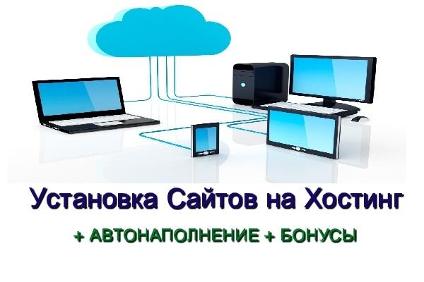 Быстрая установка вашего сайта на хостинг + бонус 1 - kwork.ru