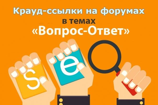 10 крауд - ссылок в темах Вопрос - ответ на форумах 1 - kwork.ru