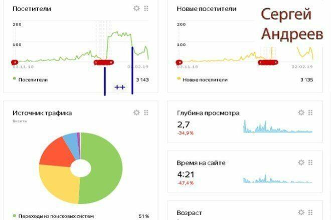 Поисковый трафик на сайт 1 - kwork.ru