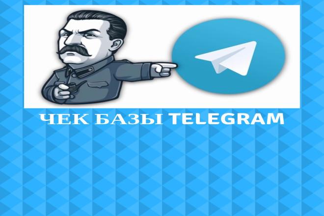 Проверю вашу базу номеров на наличие Telegram 1 - kwork.ru