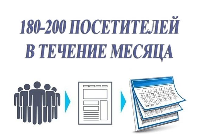 180-200 посетителей на сайт ежедневно в течение месяца 1 - kwork.ru