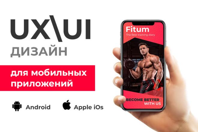 UI-UX Дизайн мобильного приложения под iOS или Android 12 - kwork.ru