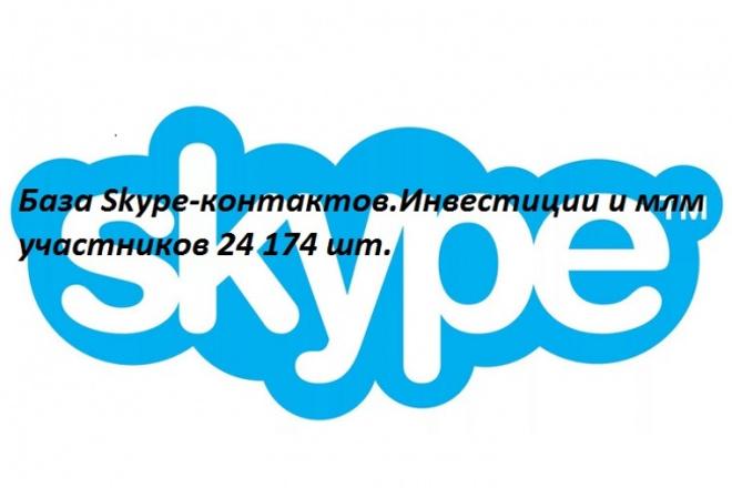 База Skype-контактов. Инвестиции и млм участников 1 - kwork.ru