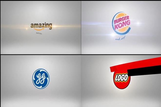 4 анимационных заставки из вашего логотипа 1 - kwork.ru