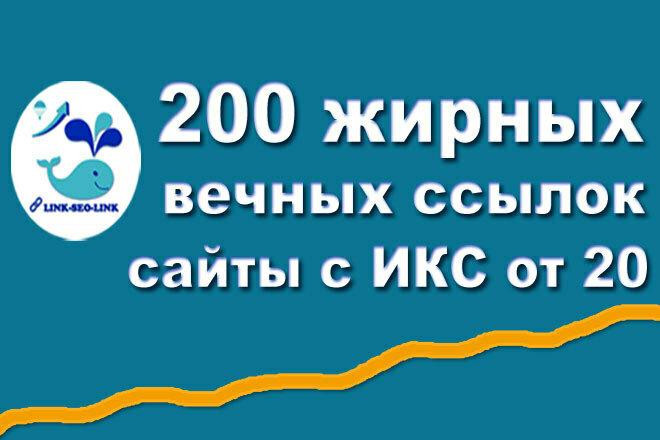 200 вечных обратных ссылок на сайтах с ИКС от 20 и выше 1 - kwork.ru
