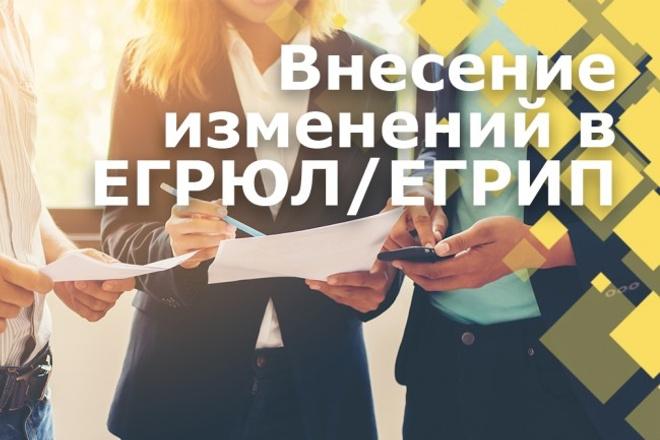Внесение изменений в егрюл 1 - kwork.ru