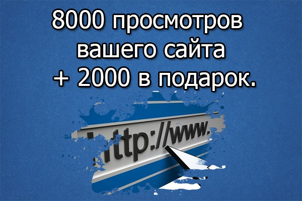 8000 просмотров сайта + 2000 просмотров в подарок 1 - kwork.ru