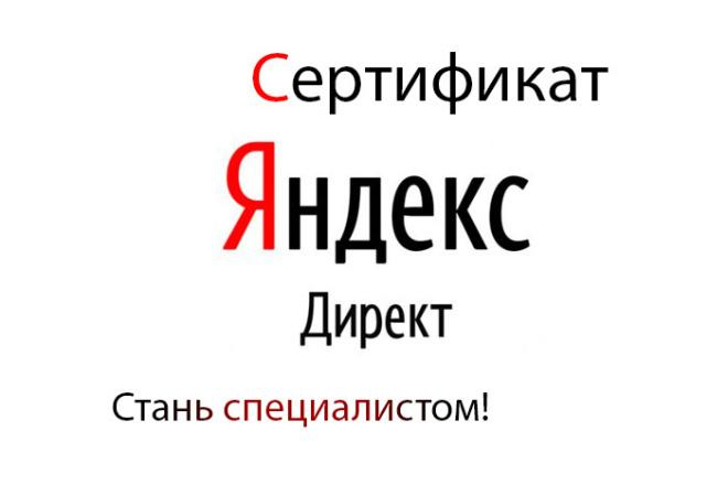 Сертификат Yandex Direct. Окажу консультацию 1 - kwork.ru