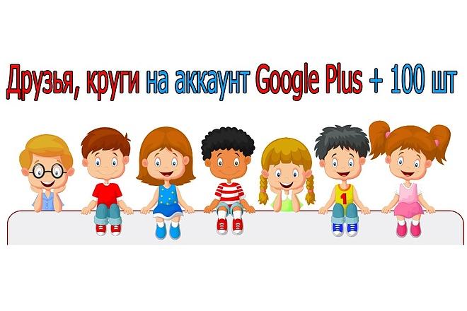 Друзья, круги на аккаунт Google Plus + 100 шт 1 - kwork.ru