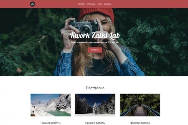 Адаптивный сайт на Bootstrap 1 - kwork.ru