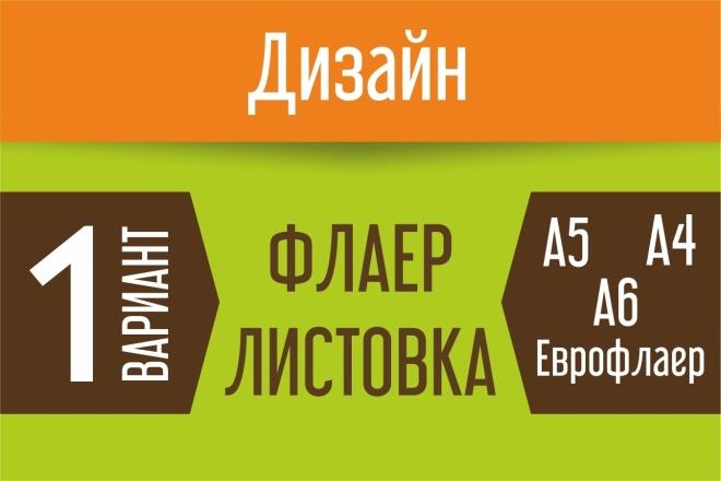 Дизайн флаера, листовки 76 - kwork.ru