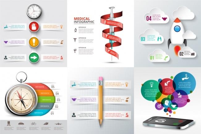 2800 шаблонов для создания инфографики 15 - kwork.ru