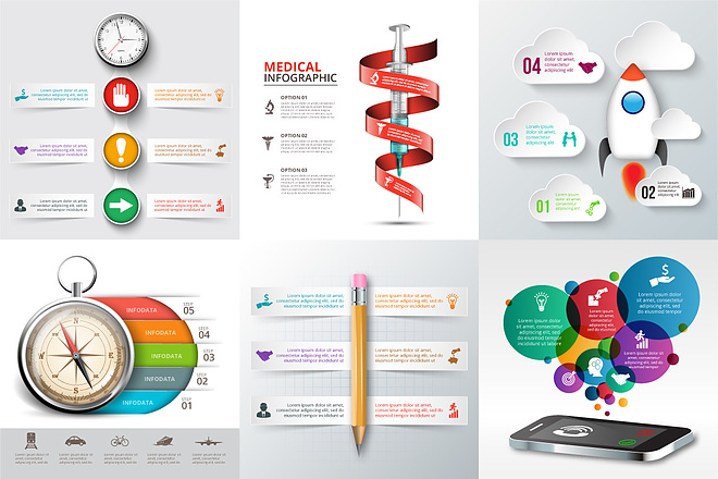 2800 шаблонов для создания инфографики 21 - kwork.ru