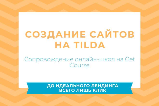 Создание сайтов на Tilda, сопровождение онлайн-школы на Get Course фото