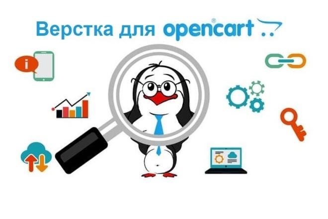 Верстка сайта на OpenCart фото