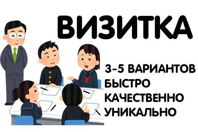 Разработаю дизайн визитки 4 - kwork.ru