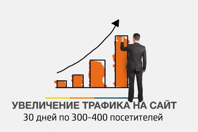 300-400 уникальных посетителей каждый день в течении 30 дней 1 - kwork.ru