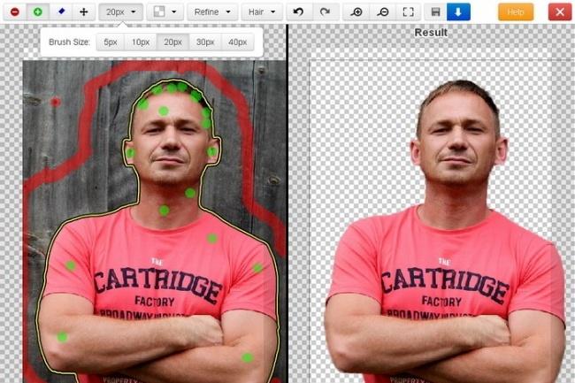 Вырезать фото с фона онлайн